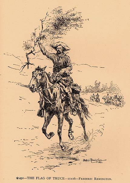 The flag of truce - Frederic Remington from 1887 catalog