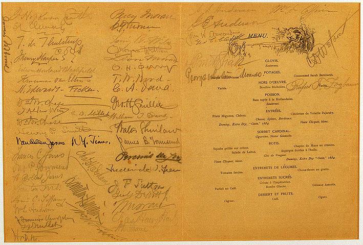 First annual dinner, menu cover, 1888